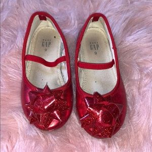 Little Girl Red Gap Shoes